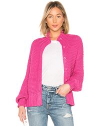 House of Harlow 1960 - X Revolve Reverse Stitch Cardigan In Pink - Lyst