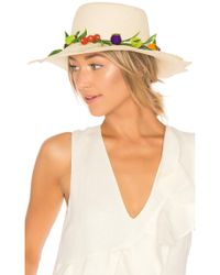 Mercedes Salazar - Tutti Frutti Straw Hat In Tan. - Lyst