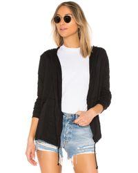 Bobi - Jersey Cardigan In Black - Lyst