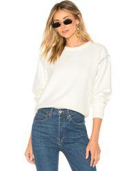 Rag & Bone - Inside Out Sweatshirt In Ivory - Lyst