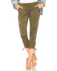 Chaser | Heirloom Lace Up Cropped Pant | Lyst