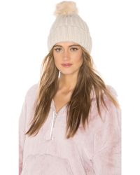 d60be757de7 Hat Attack - Chunky Rib Beanie In Ivory. - Lyst