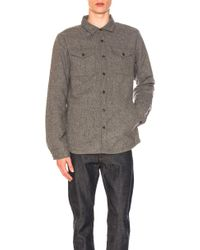 The North Face - Cabin Fever Wool Shirt In Grey - Lyst