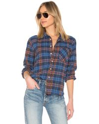 NSF - Axel Button Up In Blue - Lyst