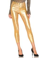 L'Agence - Margot High Rise Skinny With Crackle Foil - Lyst