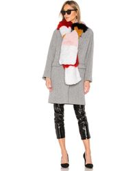 Meteo by Yves Salomon - Fox And Rabbit Fur Scarf In Pink. - Lyst