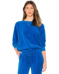 Year Of Ours - Velour Stephanie Sweatshirt In Royal - Lyst