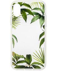 65176c25cb1 Funda iPhone X Moulded 5,8 pulgadas adidas de color Verde - Lyst