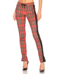 Pam & Gela - X Revolve Tartan Cigarette Track Pant In Red - Lyst