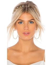Jennifer Behr - Nova Bandeaux Headband In Metallic Gold. - Lyst