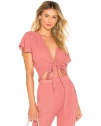 Eberjey - Summer Of Love Olympia Tie-front Top - Lyst