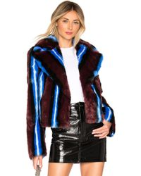 Diane von Furstenberg - Collared Faux Fur Jacket - Lyst
