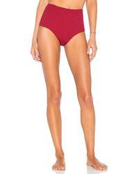 Cali Dreaming - Seamed Phoenix Bikini Bottom In Wine - Lyst