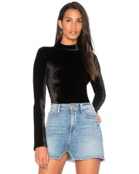 Getting Back to Square One - The Velour Turtleneck Bodysuit - Lyst