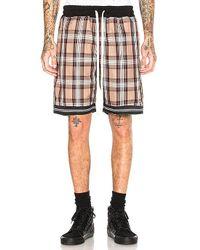 Represent - Tartan Shorts In Brown - Lyst