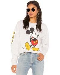 Junk Food - Mickey Mouse Classic Oversized Sweatshirt In Grey - Lyst
