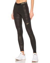 Nike - Pro Metallic Dots Tight In Black - Lyst