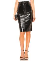 LPA - Patent Pencil Skirt In Black - Lyst