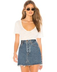 Free People - Saturday Tee In White - Lyst