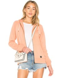 Obey - Comfy Zip Hoodie In Pink - Lyst