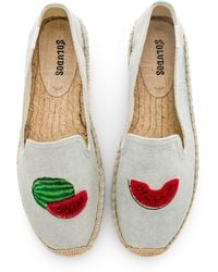 Soludos - Watermelons Smoking Slipper In Blue - Lyst