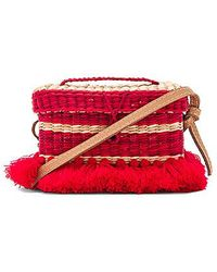 Nannacay - Baby Phiphi Tote With Leather Strap In Red. - Lyst