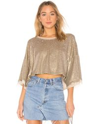Free People - Champagne Dreams Tee - Lyst