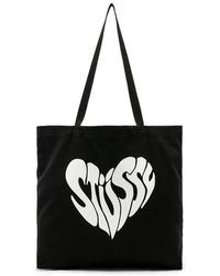 Stussy - Peace Tote In Black. - Lyst