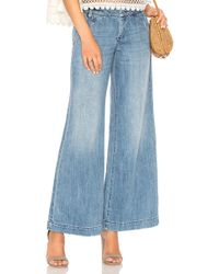 Free People - Sydney Denim Trouser - Lyst