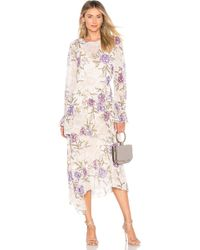 Astr - Mona Dress In Cream Lilac Floral In Beige - Lyst