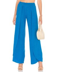 Bobi - Seaside Linen Pants In Blue - Lyst