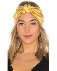 Jennifer Behr - Marin Knot Half Turban In Mustard. - Lyst