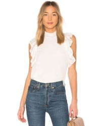 Endless Rose - Ruffled Top In White - Lyst