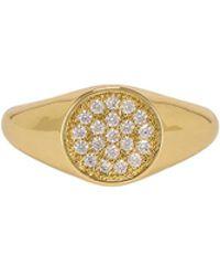 Shashi - Pave Signet Ring - Lyst