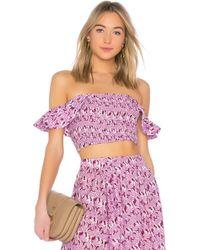 Apiece Apart - Lamu Smock Top In Purple - Lyst