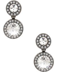 Elizabeth Cole - Dangle Earrings In Metallic Silver. - Lyst