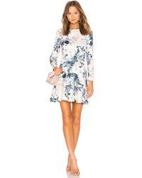 Lover - Peony Mini Flip Dress - Lyst