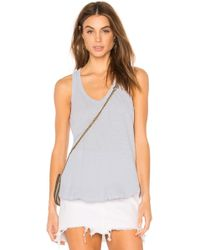 Wilt - Ruffle Shirttail Tank In Blue - Lyst