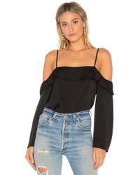 1.STATE - Cascade Sleeve Cold Shoulder Blouse - Lyst