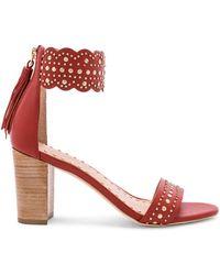 9f85a8717edb Lyst - Ulla Johnson Mischa Leopard Sandals