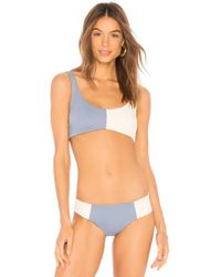 Tori Praver Swimwear - Deja Bralette In Blue - Lyst