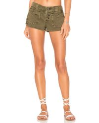 Free People - Cora Button Front Short - Lyst