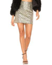 For Love & Lemons - Eloise Sequin Mini Skirt - Lyst