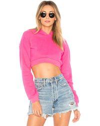 Lovers + Friends - Super Crop Hoodie In Pink - Lyst