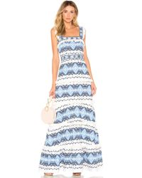 Alexis - Leonora Gown In Blue - Lyst