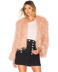 Urban Outfitters - Faux Shearling Jacket In Pink - Lyst