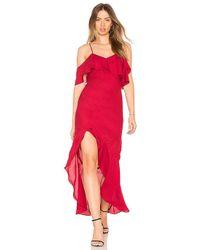 Krisa - High Low Ruffle Dress - Lyst