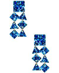 Lele Sadoughi - Spotlight Chandelier Earrings In Blue. - Lyst