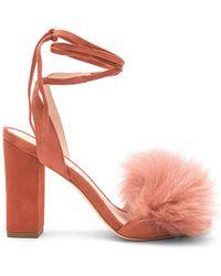 Loeffler Randall - Nicolette Fox Fur Heel - Lyst