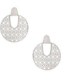 Kendra Scott - Diane Silver Statement Earrings - Lyst